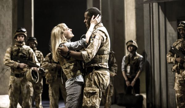 Olivia Vinall as Desdemona and Adrian Lester as Othello