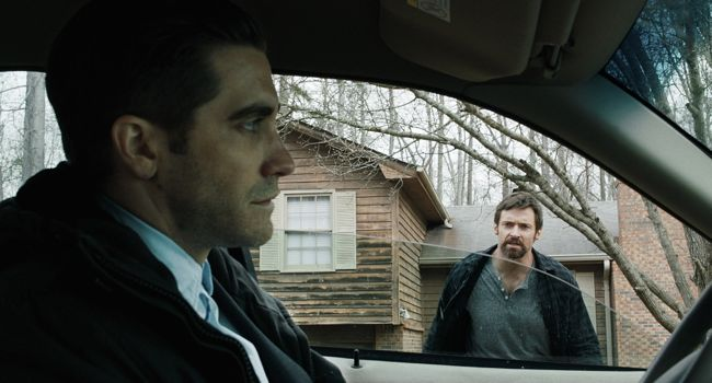 Jake Gyllenhaal and Hugh Jackman star in 'Prisoners', which opens in the UK on Sept. 27.