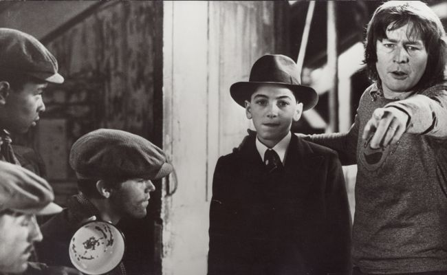 Alan Parker and Scott Baio on the set of 'Bugsy Malone'