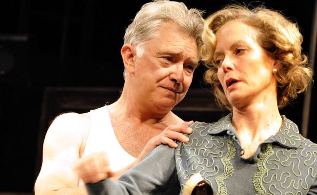 Shaw onstage with Jenny Seagrove in 'The Country Girl'